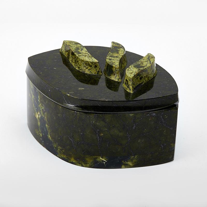 Шкатулка змеевик 12х8,5х6 см