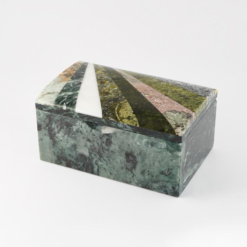 Шкатулка змеевик 13,5х9х6,5 см