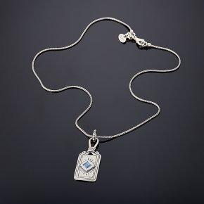 Кулон кианит синий Бразилия (серебро 925 пр.)