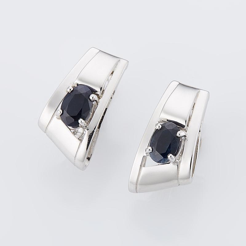 Серьги сапфир черный огранка (серебро 925 пр.) серьги висячие oem 925 925 czkalqra fpuaohba e051 earring