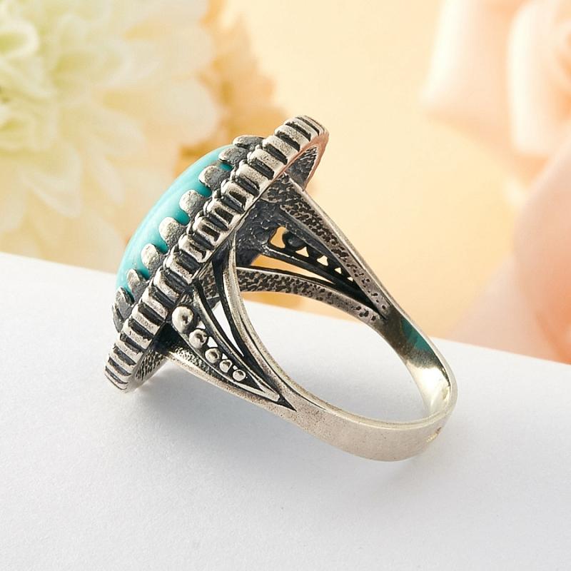 [del] Кольцо бирюза Тибет (серебро) размер 20