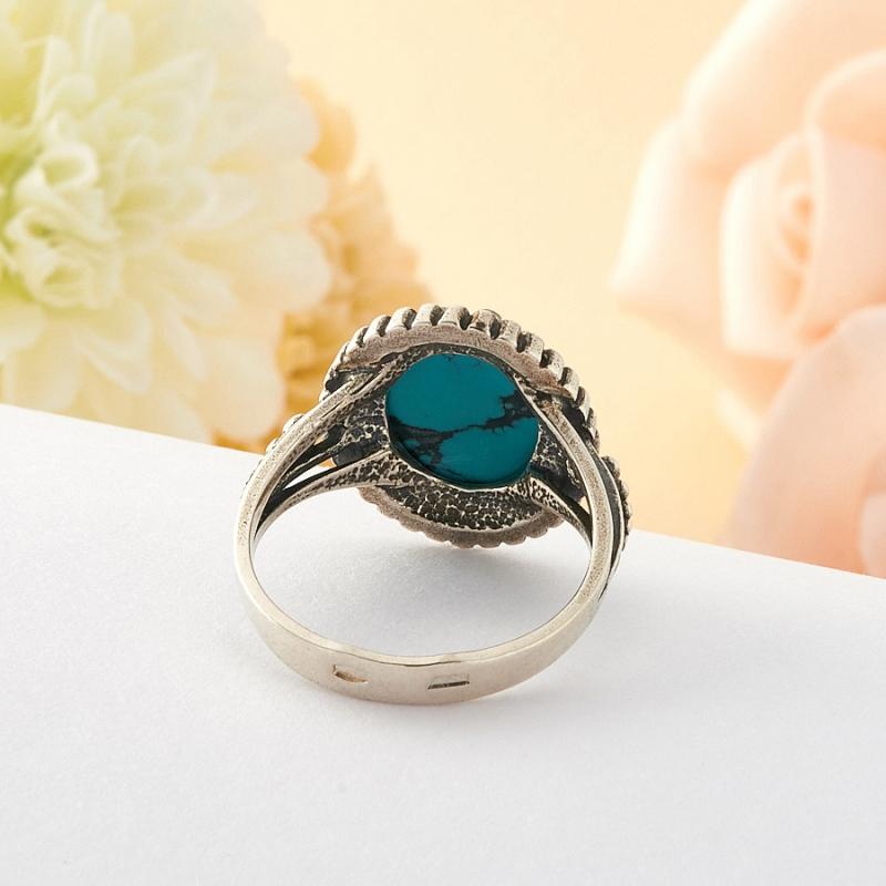 [del] Кольцо бирюза Тибет (серебро) размер 16
