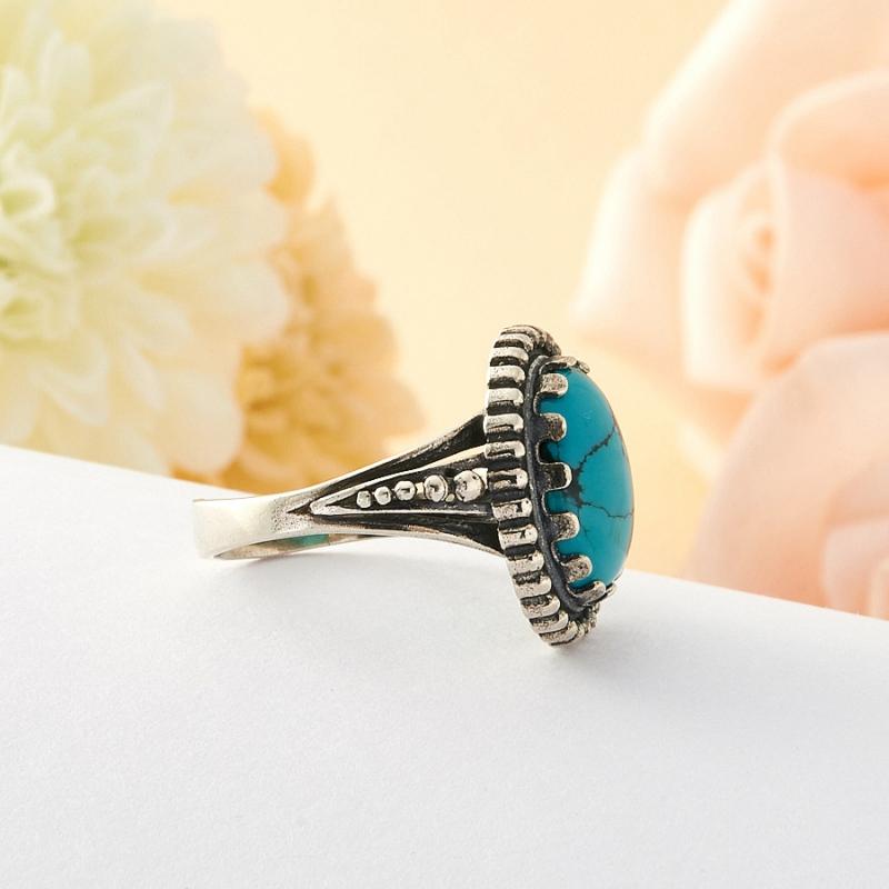 [del] Кольцо бирюза Тибет (серебро) размер 18