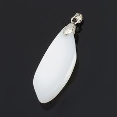 Кулон агат серый Россия (биж. сплав)