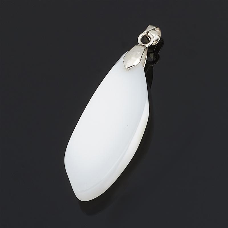 Кулон агат серый  (биж. сплав)