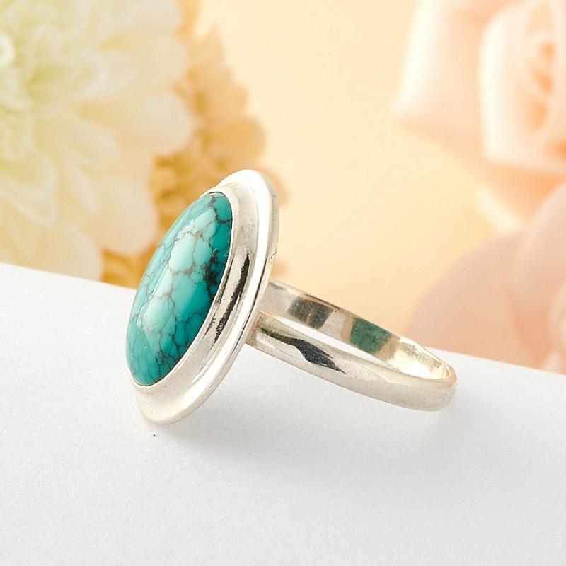 [del] Кольцо бирюза Тибет (серебро) размер 19,5