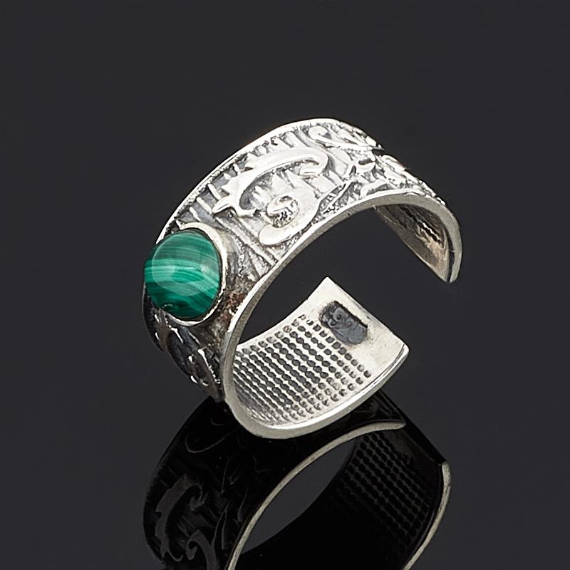 Кольцо малахит (серебро 925 пр.) размер 17,5 кольцо yueyin r161 925