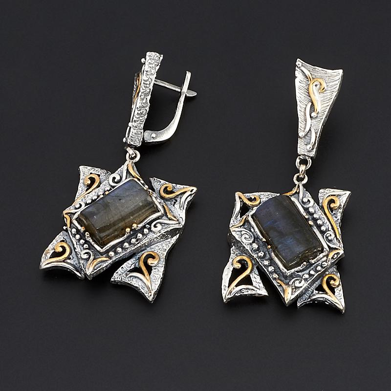 Серьги лабрадор (серебро 925 пр., позолота) серьги danny jewelry 925