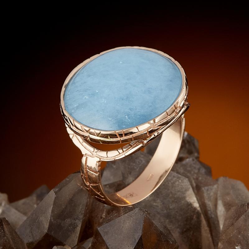 Кольцо аквамарин (золото 585 пр.) размер 18 кольцо сапфир золото 585 пр размер 18