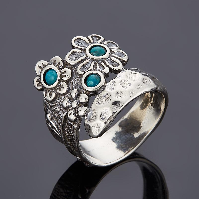 Кольцо бирюза пресс (серебро 925 пр.) размер 17,5 цена