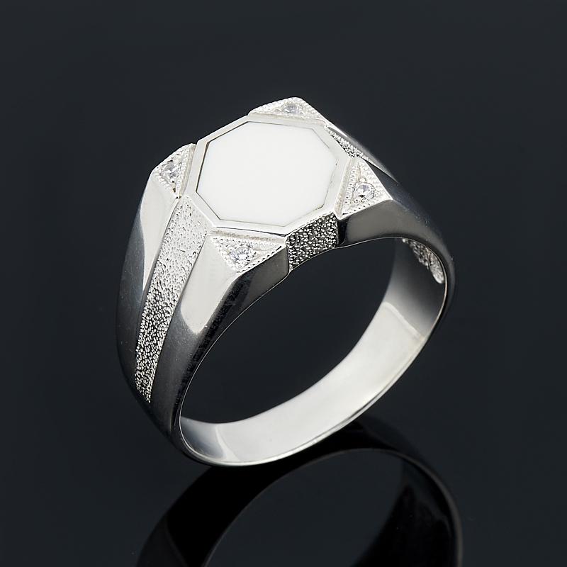 Кольцо кахолонг (серебро 925 пр.) размер 22,5 браслет джессика змеевик кахолонг