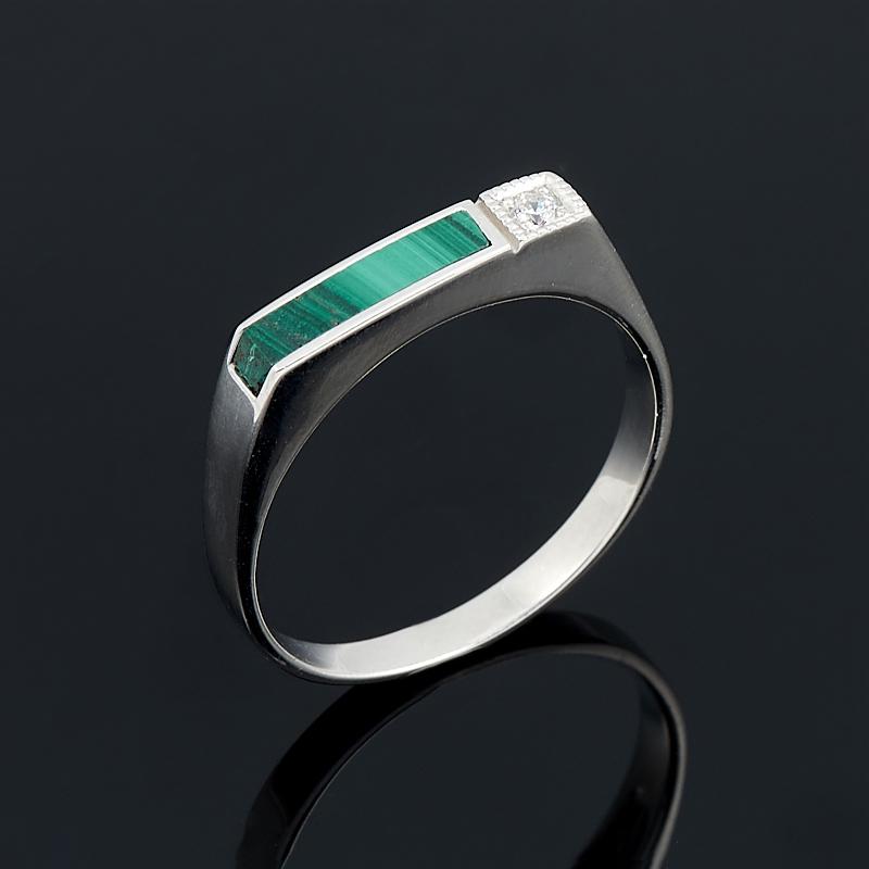 Кольцо малахит (серебро 925 пр.) размер 18 кольцо art silver цвет антрацитовый кч2077 733 размер 18