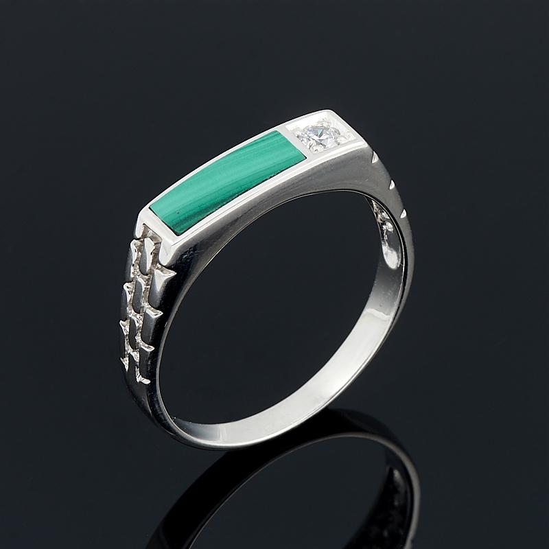 Кольцо малахит (серебро 925 пр.) размер 21
