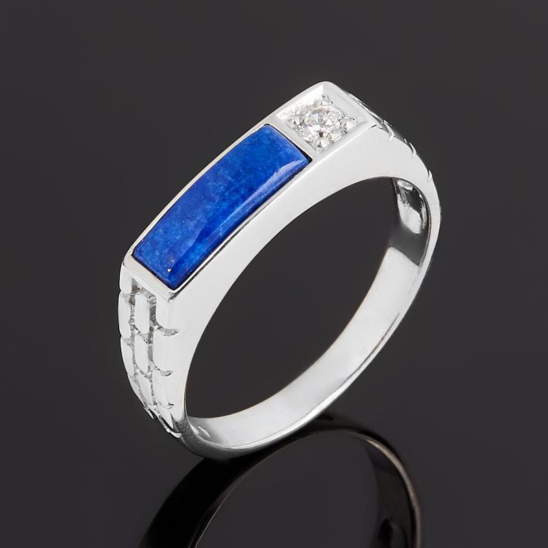 Кольцо лазурит (серебро 925 пр. родир. бел.) размер 19 кольцо лазурит серебро 925 пр размер 19