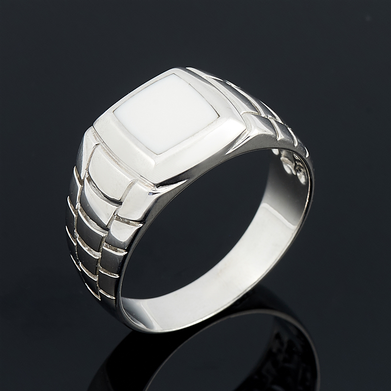 Кольцо кахолонг (серебро 925 пр.) размер 22