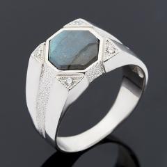 Кольцо лабрадор Мадагаскар (серебро 925 пр.) размер 22