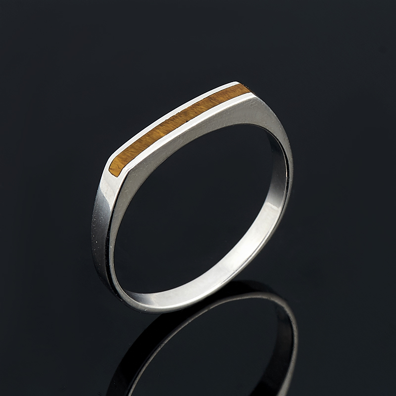 Кольцо тигровый глаз (серебро 925 пр.) размер 18 кольцо art silver цвет антрацитовый кч2077 733 размер 18