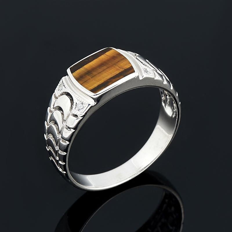 Кольцо тигровый глаз  (серебро 925 пр.) размер 21