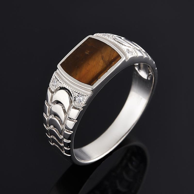 Кольцо тигровый глаз (серебро 925 пр.) размер 21,5 кольца колечки кольцо лаватера тигровый глаз