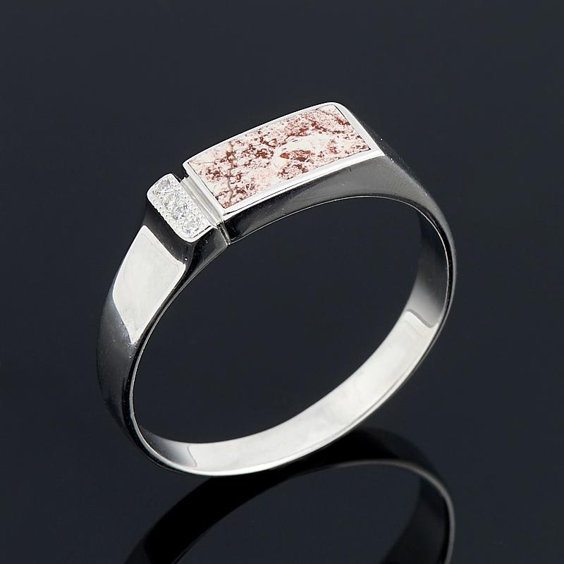 Кольцо яшма  (серебро 925 пр.) размер 22