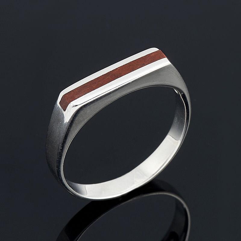Кольцо яшма брекчиевая  (серебро 925 пр.) размер 19