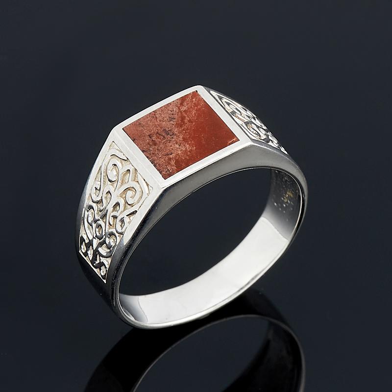 Кольцо яшма красная (серебро 925 пр.) размер 20