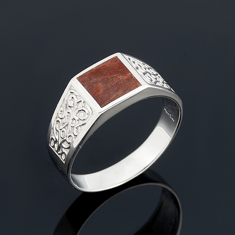 Кольцо яшма брекчиевая  (серебро 925 пр.) размер 22