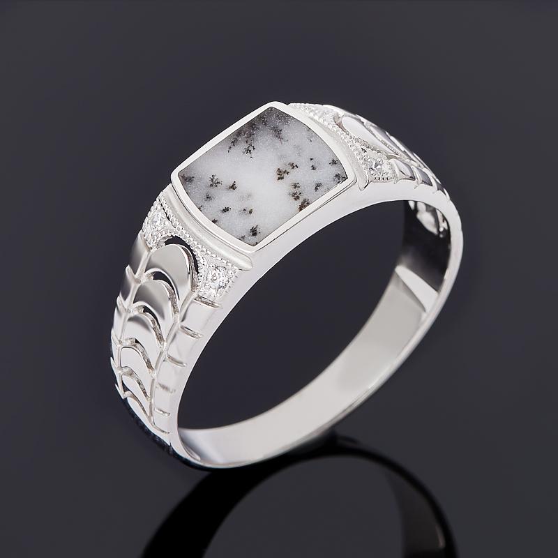 Кольцо агат пейзажный (серебро 925 пр.) размер 22,5