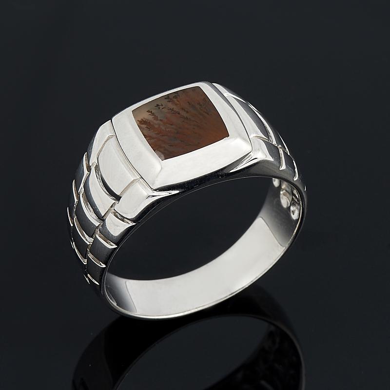 Кольцо агат пейзажный (серебро 925 пр.) размер 21 серьги агат серый серебро 925 пр