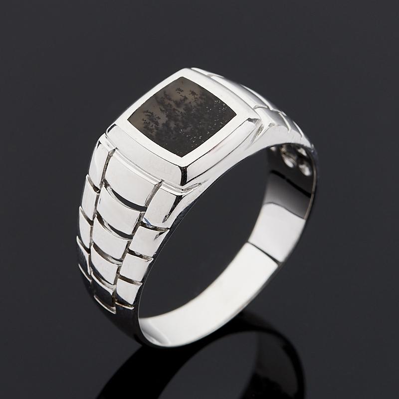 Кольцо агат пейзажный (серебро 925 пр.) размер 23