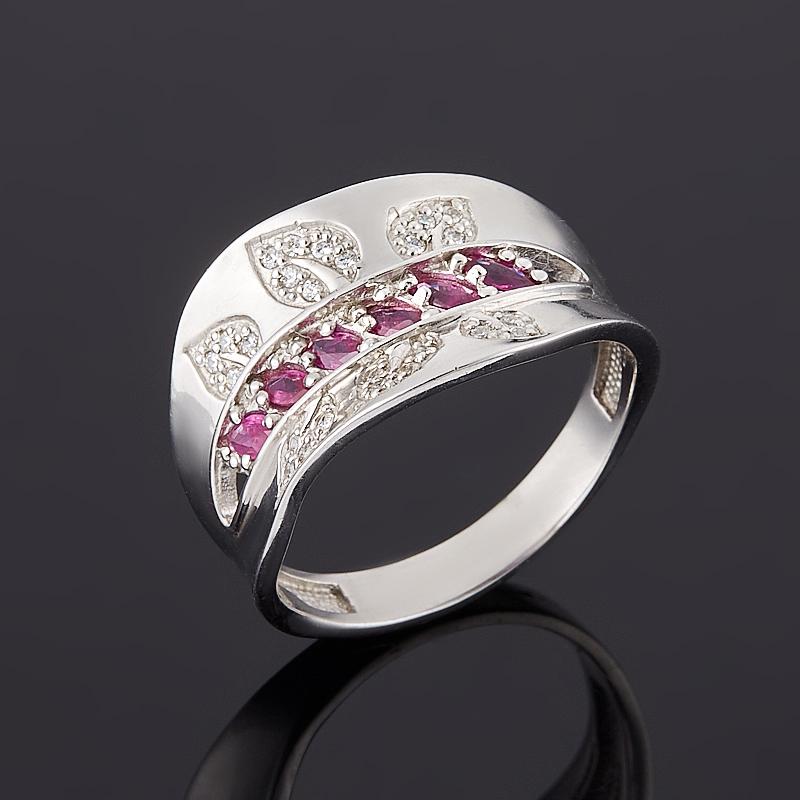 Кольцо рубин  огранка (серебро 925 пр.) размер 18,5