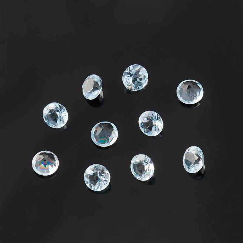 Огранка топаз голубой Бразилия круглая (1 шт) 4 мм