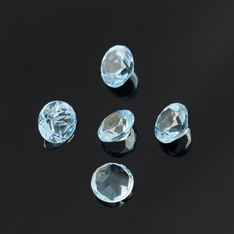 Огранка топаз голубой Бразилия круглая (1 шт) 6 мм