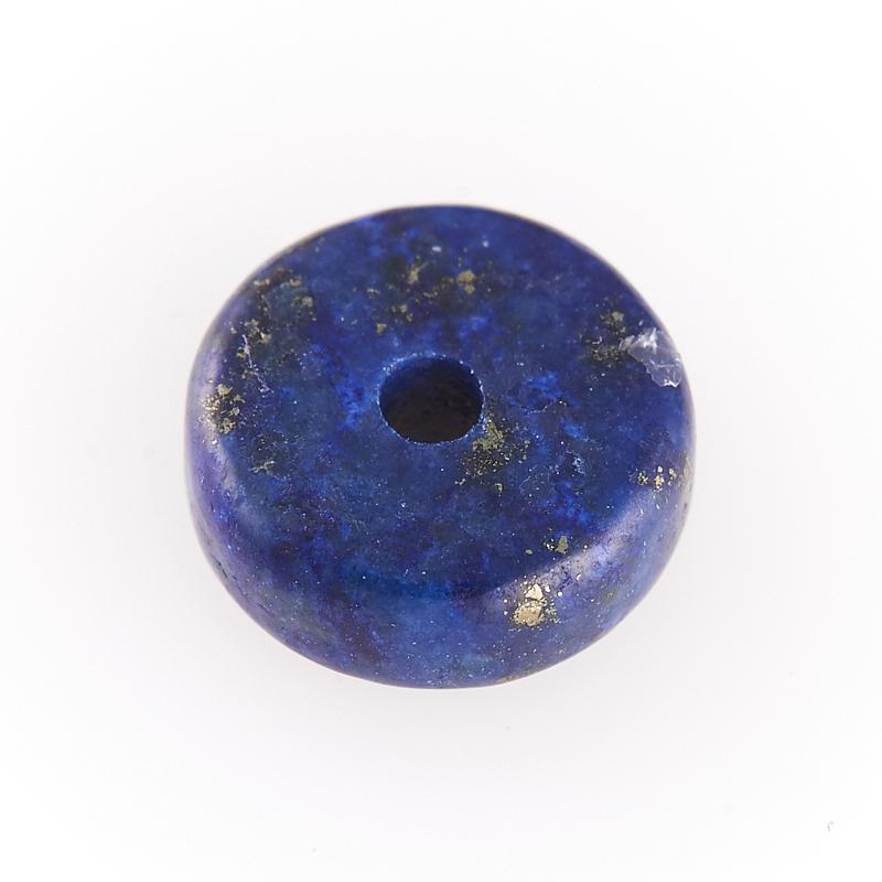 Бусина лазурит Афганистан сплюснутый шар 8 мм (1 шт)