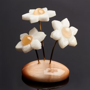 Статуэтка цветы селенит Россия 7 см