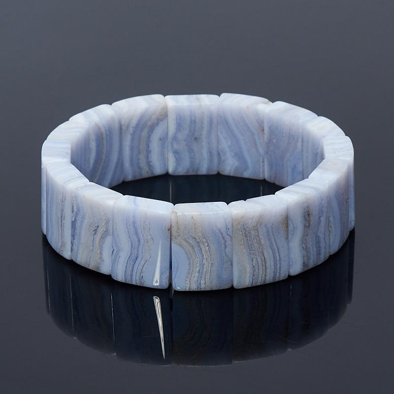 Браслет агат голубой 19 см