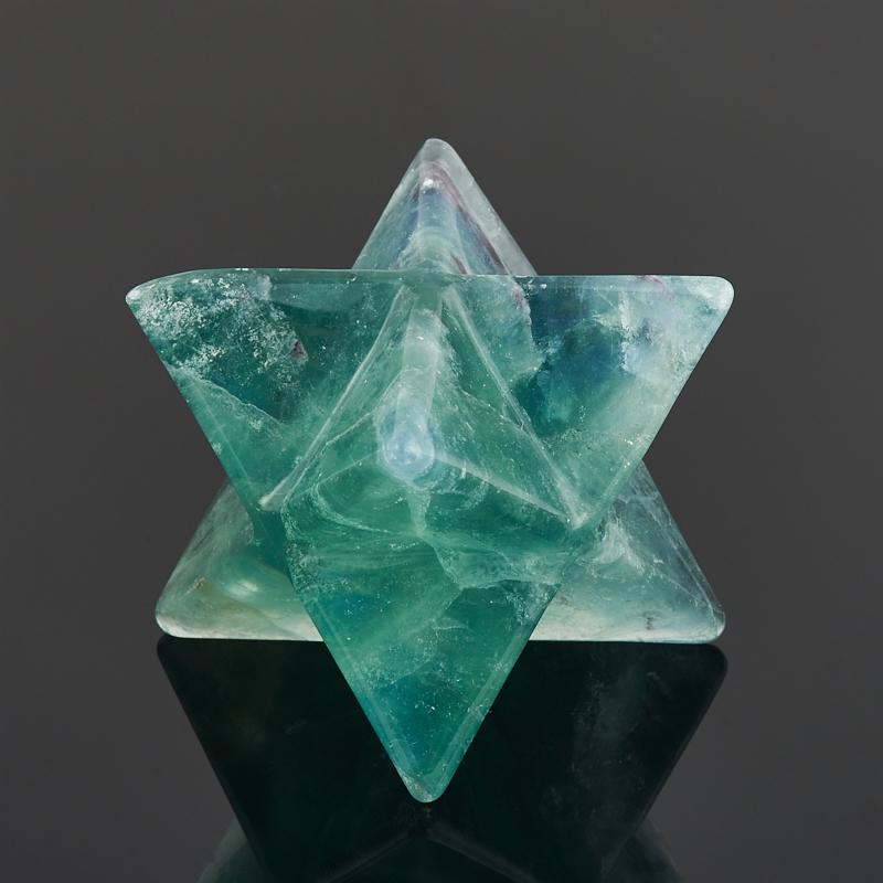 Меркаба флюорит зеленый 4 см флюорит радужный минерал камень в коробочке real minerals collection флюорит радужный