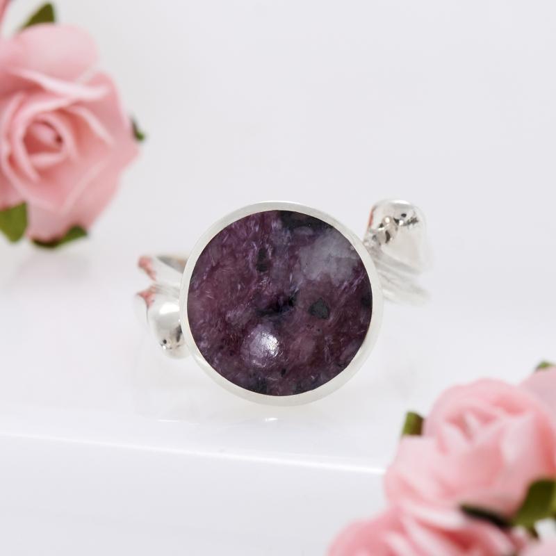 Кольцо чароит  (серебро)  размер 18,5