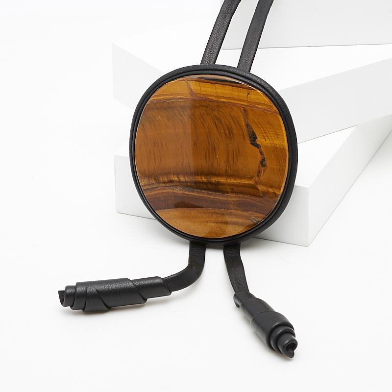 Подвеска тигровый глаз (натуральная кожа) шарм тигровый глаз большой