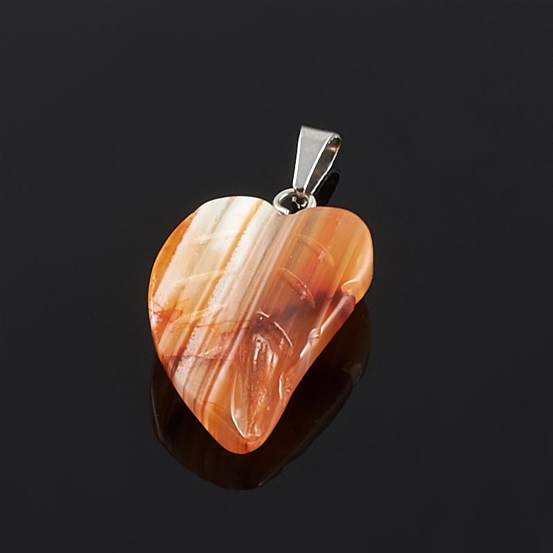 Кулон сердолик лист (биж. сплав) 3 см фотообои 2 5х1 3 м 1 лист ovk design пляж 230070