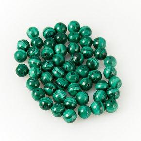 Бусина малахит Конго шарик 5-5,5 мм 1 шт