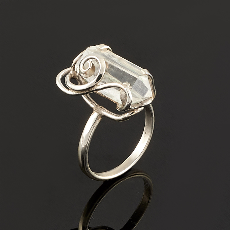 Кольцо горный хрусталь  (нейзильбер) размер 18