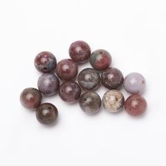 Бусина агат моховой бордовый Индия шарик 8-8,5 мм (1 шт)