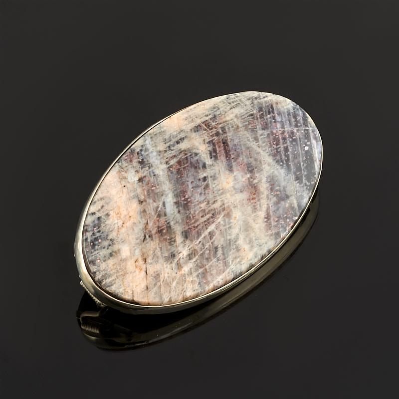 Брошь солнечный камень (нейзильбер)