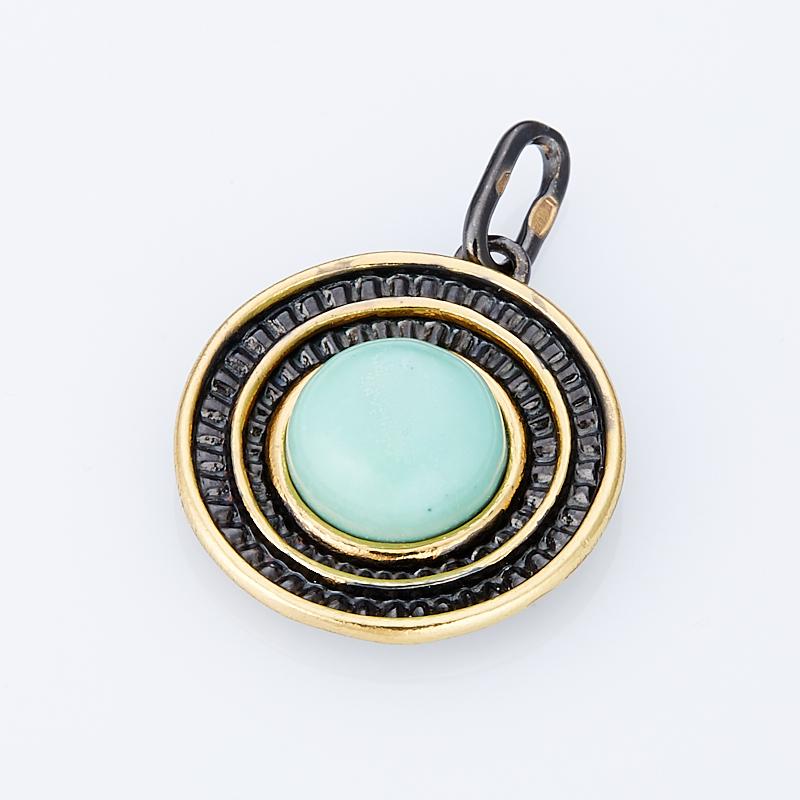 Кулон бирюза () круг (серебро 925 пр., позолота) кулон хризопраз серебро 925 пр позолота