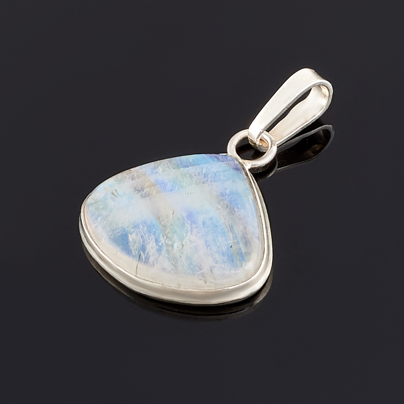 Кулон лунный камень (адуляр) (серебро 925 пр.) серьги лунный камень