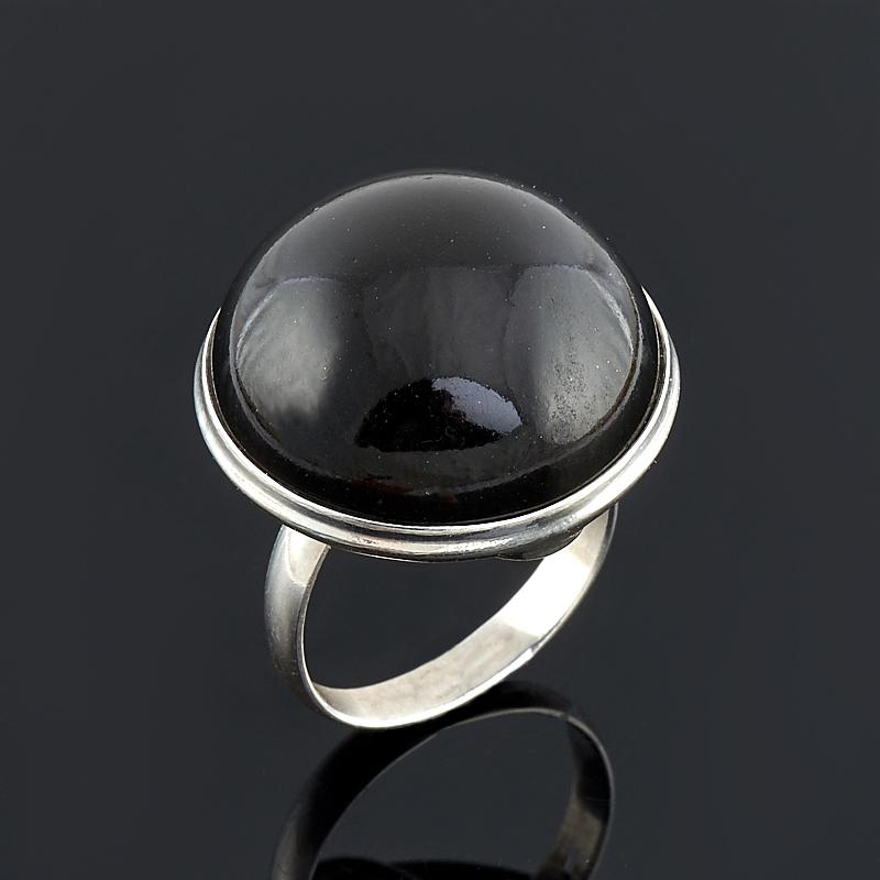 Кольцо гагат Грузия (серебро 925 пр.) размер 17,5