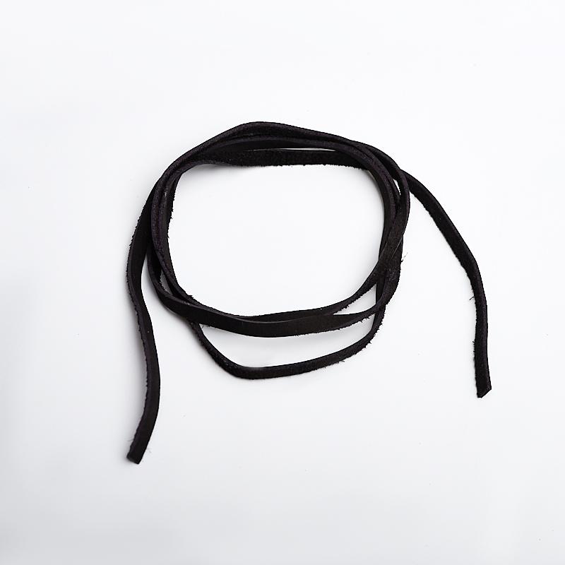 Шнурок черный 90 см (натуральная кожа) черный zogaa черный