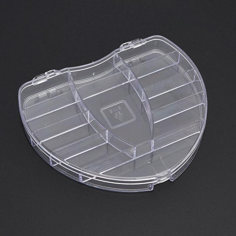 Бокс для хранения бусин/кабошонов/огранки пластик 130х115х8 мм бокс для хранения вещей kiss the plastic industry