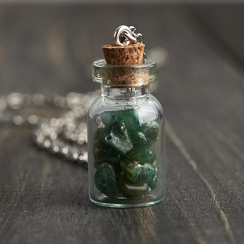 Кулон авантюрин зеленый бутылочка (биж. сплав) 3 см кулон авантюрин биж сплав 5 см